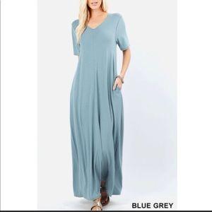 Dresses & Skirts - Steel blue maxi dress